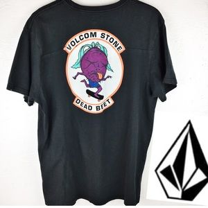 Men's Volcom Shirt | XL Black Dead Beat Logo VTG